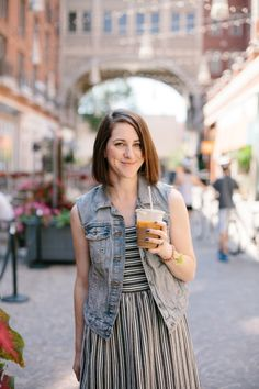Iced coffee, denim v