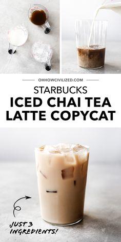 Iced Chai Latte Recipe, Iced Chai Tea Latte, Tea Recipes, Copycat Recipes, English Breakfast Tea, Milk Tea, Sweet Tea, Drinking Tea, Tea Time