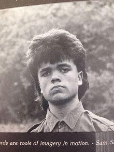 Peter Dinklage's 1987 yearbook photo
