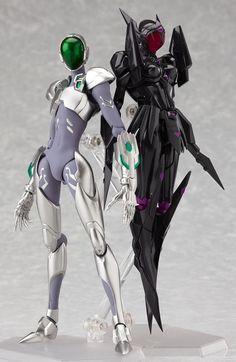Figma : Silver Crow and Black Lotus de Accel World Arte Cyberpunk, Cyberpunk Girl, Japanese Video Games, Accel World, Sci Fi Armor, Latest Anime, Robot Concept Art, Manga Anime, Anime Toys