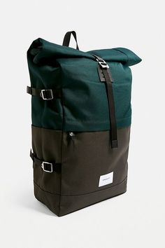 Shop Sandqvist Bernt Green Rolltop Backpack at Urban Outfitters today. D 20, Urban Outfitters Europe, Best Bags, Fabric Bags, Designer Backpacks, Design Products, Product Design, Other Accessories, Backpack Bags