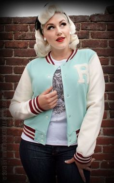 Rumble59 - Ladies Sweat-Baseballjacke - Rock'n'Roll meets Sports! - Angenehmes Material und cooler Look für alle Rockabellas! - Rockabilly-Rules.com