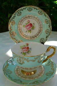 Tea cup, saucer and bred plate.