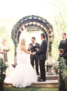 Los Gatos Ranch Wedding from Emily Scannell Photography | Style Me Pretty - The greenery is so pretty.