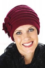 wool red accordion hat $33