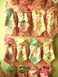 Cute Gifts: I just adore receiving a handkerchief as a gift...and these are just gorgeous!