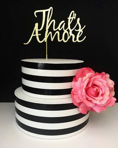 That's amore cake topper love cake topper