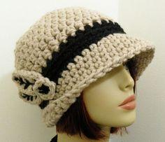 PDF Crochet Hat Pattern - UPTOWN FEDORA Hat -Womens Hat Crochet Pattern