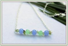 Fine Jewelry SemiPrecious Blue Chalcedony by SUSANsBAUBLES on Etsy, $32.00