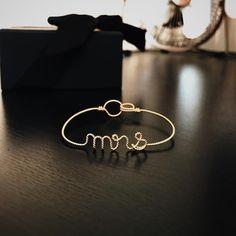 Mrs, I love you ✨⠀ #Bracelet #Handcrafted by #Rachelandjoseph Fine #Jewellery handcrafted one by one in #London . 🇬🇧✨🇫🇷