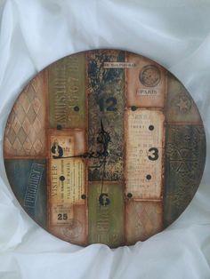 Международный университет декупажа Decoupage, Handmade Clocks, Diy Clock, Wooden Clock, Wood Slats, Old Wood, Vintage Wood, Home Crafts, Wood Projects