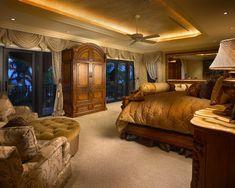 Coral Gables Mansion - mediterranean - bedroom - miami - Perla Lichi Design