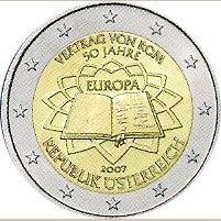 moneda Austria 2 euros 2007 Tratado Roma, Tienda Numismatica y Filatelia Lopez, compra venta de monedas oro y plata, sellos españa, accesorios Leuchtturm