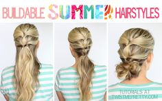 I love these buildable hairstyles!  So many times I want to start my hair off down and by the end of the day it's driving me nuts.  Great advice on quick transitions | Twist Me Pretty