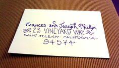 "My ""Napa"" writing style---something new!  www.calligraphybycarrie.com"