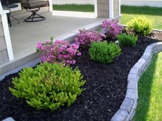 Front Yard Garden Design cheap landscaping ideas for front - Small Front Yard Landscaping, Front Yard Design, Landscaping With Rocks, Outdoor Landscaping, Landscaping Plants, Outdoor Gardens, Patio Design, Easy Landscaping Ideas, Courtyard Landscaping