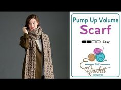 Crochet Pump Up the Volume Super Scarf- I think I'd do this in worsted weight. It's a little *Too* bulky for me.