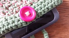 A perfect accessory for your #e-reader or tablet. This is hand #crocheted to fit your Nook #tablet, Kindle Fire, iPad mini and several other popular e-readers and tablets. Thi... #yoga #dance #fashion #accessories #case #handmade #cover #case #cozy #green #pink #spsteam #unisex