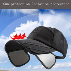 1PC Fishing Hat Summer Sunshade Adjustable Caps Outdoor Sport Baseball Fishing  Hats Breathable Mesh Cap Men 4e6c35cefb8c