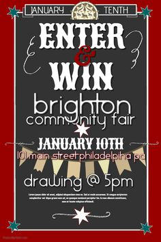 Community Fair Competition Poster Template.  Competition Flyer Template