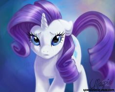 Art Print - My Little Pony - Rarity's Tears - 8 x 10 Inches. £6.00, via Etsy.