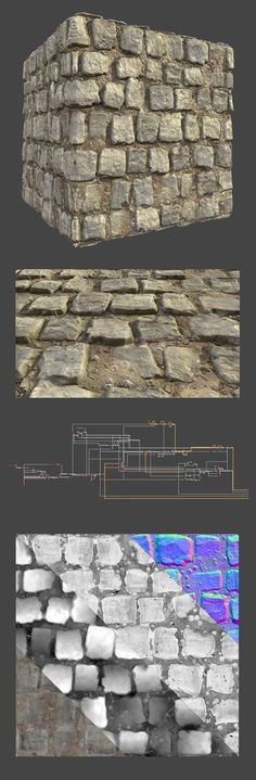 ArtStation - Procedural Wet Brick Floor, Leonardo Iezzi