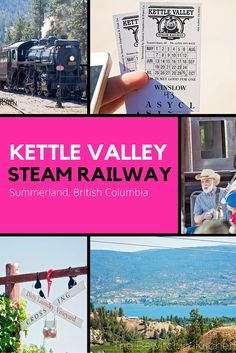 The Kettle Valley Steam Railway is a fun family attraction in Summerland, British Columbia. A train ride throughout the Okanagan back country. Things To Do In Kelowna, Winter Activities For Kids, Family Activities, Steam Railway, Vacation Trips, Vacation Places, Vacations, British Columbia, Columbia Travel