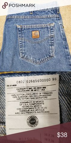 06e11e660dd Carhartt 38 X 36 straight cut 38 X 36 straight cut jeans   split at bottom