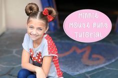 Minnie Mouse Buns | Disney Hairstyles I did the bow last week, I'm doing this next time!!