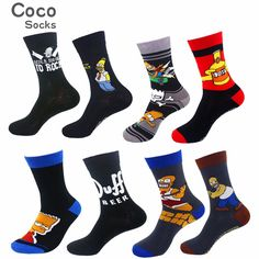 Simpsons Cartoon, Dc World, Classic Cartoons, Cotton Socks, Superman, Kids Outfits, Superhero, Socks Men, Stuff To Buy