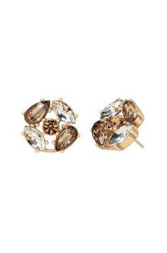 Stella & Dot Orange & Pink Chandelier Earrings | Pop Geo Chandeliers