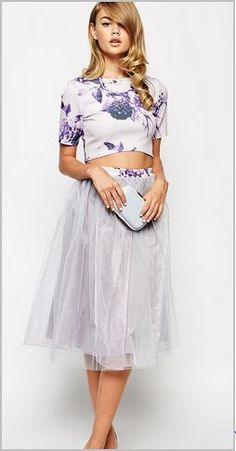 ASOS, True Violet Full Prom Tulle Skirt and Crop Top  http://www.asos.com/True%20Violet%20Scuba%20Crop%20Top%20In%20Floral%20Print/prod/pgeProduct.aspx?iid=4899511&clr=Multi&featureref1=Women&featureref2=cta&featureref3=shop|occasion-wear