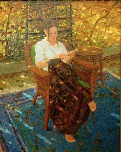 ✉ Biblio Beauties ✉ paintings of women reading letters & books - David Hettinger Reading Art, Woman Reading, Reading Books, Classical Realism, David, World Of Books, Figure Painting, Oeuvre D'art, American Artists