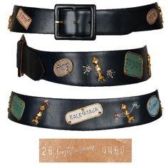 Fantastic vintage 1950s Paris fashion houses leather belt from Saks Fifth Avenue.