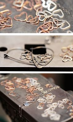 """ABLE MADE x MELISSA JOY MANNING Earth Love Hoops in Cluster Heart   Made for supporting 7,500 people relying on Bristol Bay's habitat // These earrings are handmade with responsibly-sourced recycled oxidized silver and 14-karat pink gold in a studio certified """"green"""" by state of California. Each pair is beautifully unique. #melissajoymanning #sustainable #green #earthwords #bristolbay"""