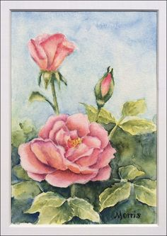 How To Paint Realistic Watercolor Roses by Michelle Morris