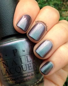 OPI - Peace & Love & OPI | Got this color a while back and finally trying it out (8/10/14) and it is a nice twist on a steel grey. Hints of green and purple depending on the light.