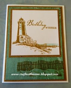 Seaside paper and seaside greetings stamp