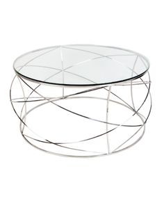 Copy of Sophie Coffee Table in Chrome – Allissias Attic & Vintage French Style