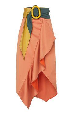Waterloo Ruffled Cotton-Blend Skirt by Silvia Tcherassi Skirt Outfits, Dress Skirt, Hijab Fashion, Fashion Dresses, Hijab Stile, Cotton Skirt, Ladies Dress Design, African Fashion, Ready To Wear