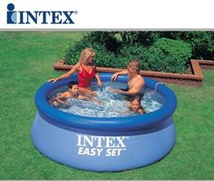 Intex 8 Feet X 30 Inch Easy Set up Inflatable Above Ground Swimming