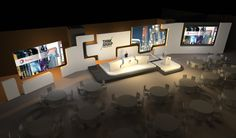 """Stage design for Total """"Think Group"""" Convention Tv Set Design, Stage Set Design, Event Design, Concert Stage Design, Event Branding, Exhibition Stand Design, Stage Lighting, Design Awards, Design Projects"""