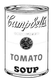 Andy Warhol tomato campbell to color Pop Art for kids / cuadros famosos para colorear niños