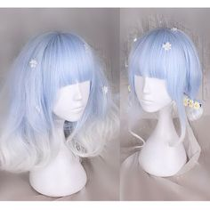 Blue White Lolita Curl Wig CP166826