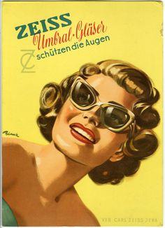 Advertisement, Zeiss Umbral Lenses Protect the Eyes  (Werbung, Zeiss Umbral-GlaÅNser schützen die Augen), 1950s