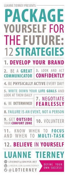 12 steps to package yourself for success. #personaldevelopment