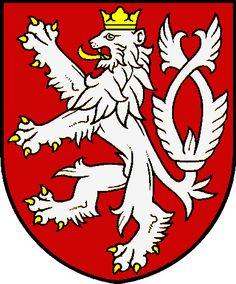 Kingdom of Bohemia wappen Republic Symbol, Kingdom Of Bohemia, Czech Tattoo, Czech Republic Flag, Summer Tattoo, National Animal, Heart Of Europe, Lion Tattoo, Coat Of Arms