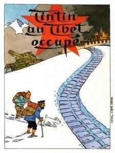 Tintin in Occupied Tibet // great snakes! Tintin Au Tibet, Tin Tin Cartoon, Album Tintin, Captain Haddock, Herge Tintin, Bd Art, Western Comics, Ligne Claire, Alien Art