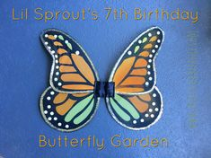 Lil Sprout's Birthday – Butterfly Garden Garden Birthday, Birthday Crafts, 7th Birthday, Organic Lawn Care, Painted Pots, Bright Pink, Container Gardening, Sprouts, Butterfly