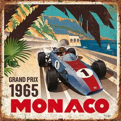 vintage Monaco GP 1965 Bruno pozzo © 2018